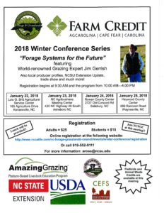 Cover photo for NC Forage & Grassland 2018 Winter Conference Series