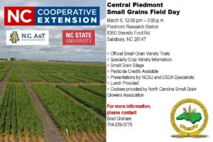 Cover photo for Central Piedmont Small Grains Field Day