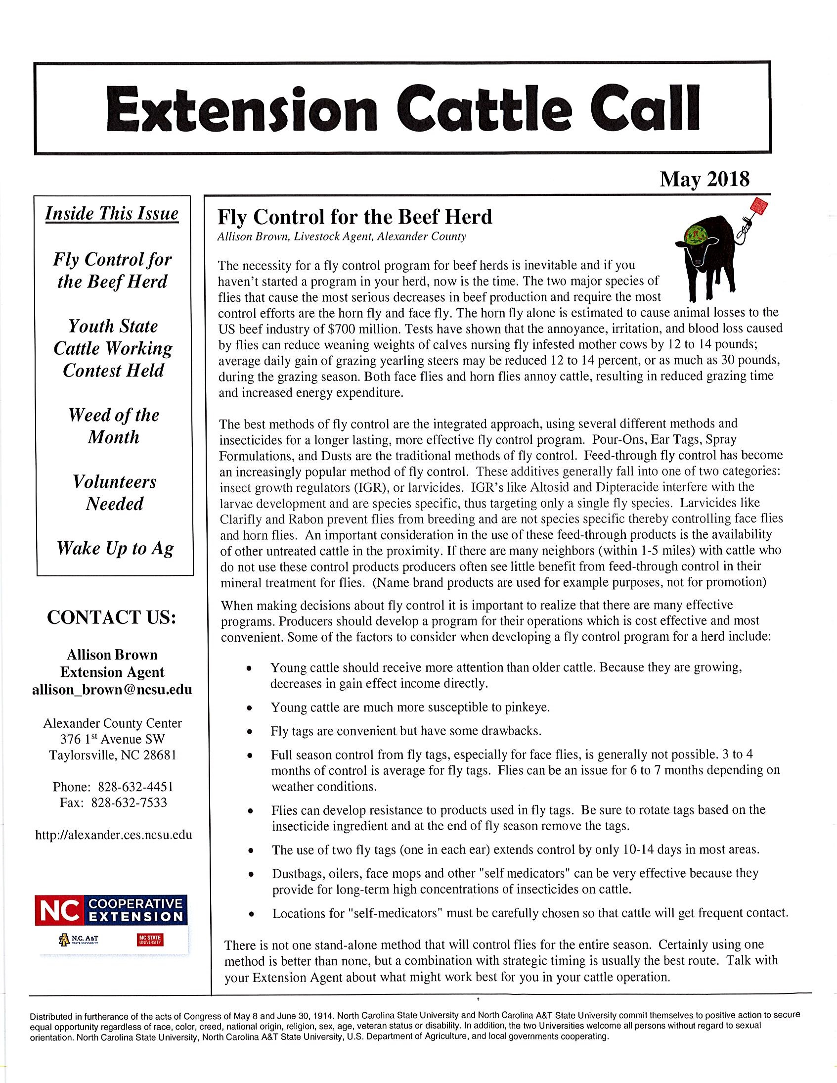 Cattle Call newsletter image 1
