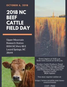 Cover photo for 2018 NC Beef Cattle Field Day