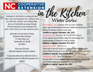 Cover photo for N.C. Cooperative Extension in the Kitchen Winter Series