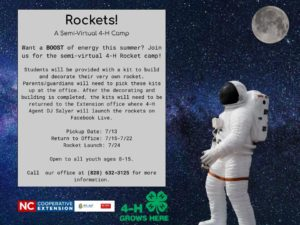 Cover photo for 4-H Virtual Rocket Camp