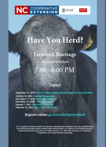 Cover photo for Have You Herd?  Livestock Meetings Will Be Offered Virtually