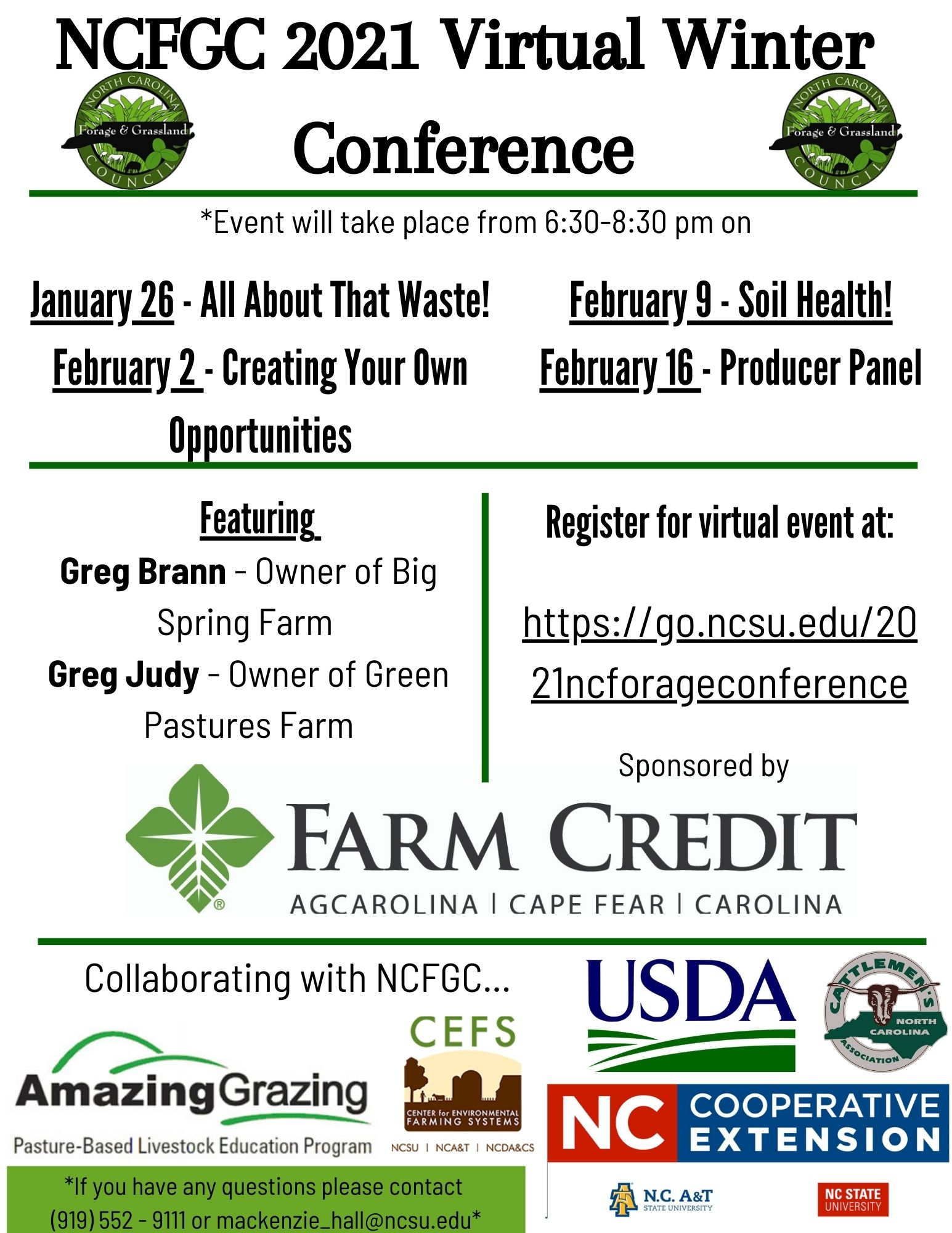 Virtual Winter Conference flyer
