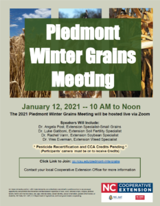Cover photo for Piedmont Winter Grains Meeting