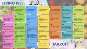 Cover photo for March Is National Living Well Month