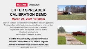 Cover photo for Litter Spreader Calibration Demonstration